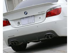 E60/61 carbon rear diffuser for Quad exhausts