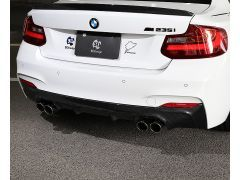 F22/23 Carbon rear diffuser with Quad exhaust system.