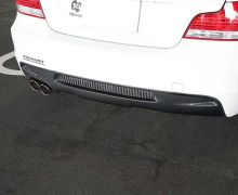 E82/88 carbon rear diffuser with single exhaust