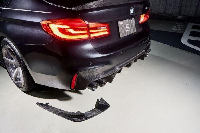 3D Design Carbon Rear Under Splitters for BMW 5 Series F90 M5