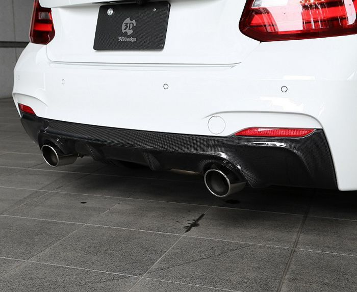 F22/23 Carbon rear diffuser with Dual exhaust system.